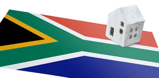 Small house on a flag - South Africa Royalty Free Stock Photography