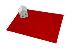 Small house on a flag - USSR. Small house on a flag - Living or migrating to USSR Royalty Free Stock Photos