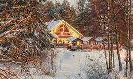 Small house in the forest Stock Photography