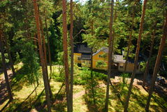 Small house in the forest Royalty Free Stock Photography