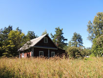Small house in the forest Royalty Free Stock Photo