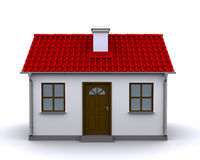 Small house, front view Stock Photos