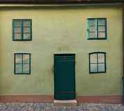 Small house on Golden Lane in Prague Castle. Prague, Czech Republic royalty free stock image