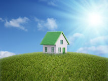 Small house on a hill Royalty Free Stock Images