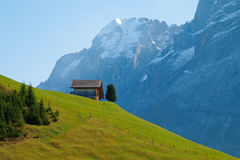 Small house on the hill Royalty Free Stock Photo