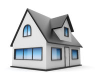 Small house. Icon 3D. Isolated on white Stock Images