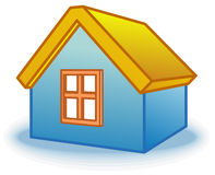 Small house icon (Vector) Royalty Free Stock Photo