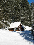 Small House In Alps Royalty Free Stock Images