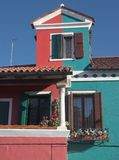 Small house from the island of Burano Royalty Free Stock Images