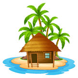 A small house in the island Royalty Free Stock Photos