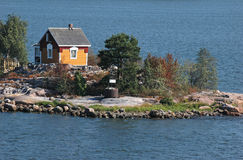 Small house in island Stock Photography