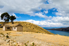 Small House on Island of the Sun Royalty Free Stock Photo