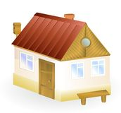 A small house isolated Stock Photos