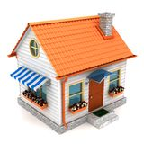 Small house isolated royalty free illustration