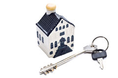 Small  house and key Stock Images