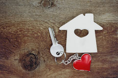 Small house and a key Stock Photo