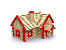 Small house of matches Royalty Free Stock Photo