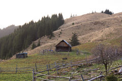 Small house in the mountains Royalty Free Stock Images