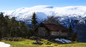 Small House in mountains Royalty Free Stock Photo