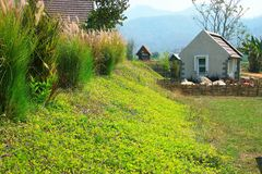 Small house in nature. Royalty Free Stock Photo