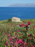 Small house near the sea. Mediterranean small house near the sea Royalty Free Stock Photos