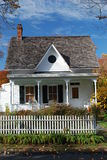 Small house in New York State. Small white house during fall  in New York State Stock Photo