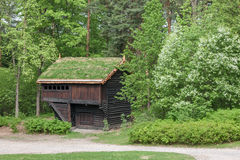 Small house in Norway mountain Stock Images