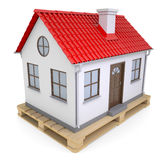Small house on pallet Royalty Free Stock Photography