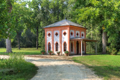 Small house in Racconigi Park. Royalty Free Stock Photos