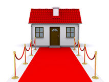 Small house and red carpet Stock Image