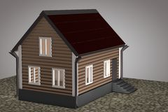 Small house with red roof Stock Photography