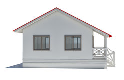 A small house with red roof Royalty Free Stock Photo