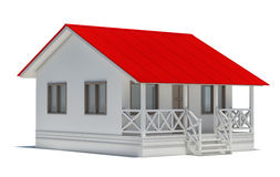 A small house with red roof Royalty Free Stock Image