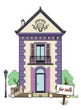Small house for sale. Vector illustration of a house, file EPS 8 Stock Illustration