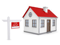 Small house and sign a lease Stock Images