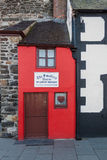 Small House. The Smallest House in Great Britain, also known as the Quay House, is a tourist attraction on the quay in Conwy, Wales Stock Images
