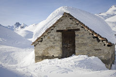 Small house in the snow Stock Photography