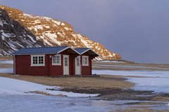 Small house at sunset Royalty Free Stock Photo