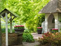 Small house with thatched roof Royalty Free Stock Images