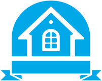 Small house vector logo. Vector color image isolated on white background Stock Image
