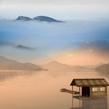 Small house on the water Royalty Free Stock Photography