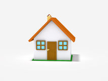 Small house on white background Stock Photos