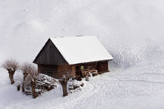 Small house from a winter fairytale Stock Photography
