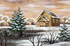Small house in wood Royalty Free Stock Photo