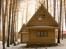 Small house in wood Royalty Free Stock Image