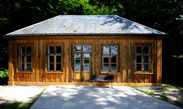 Small house in woods Royalty Free Stock Photography