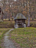 Small House in the Woods Stock Photos