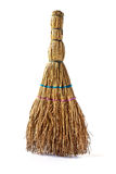 Small household broom. Small domestic kitchen broom to clean the waste Stock Photo