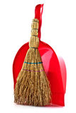 Small household broom. Small domestic kitchen broom to clean the waste Royalty Free Stock Image