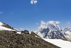 Small houses-cafe on the mountain Mussa-achetera. Dombay.The Caucasus.Russia Stock Photography